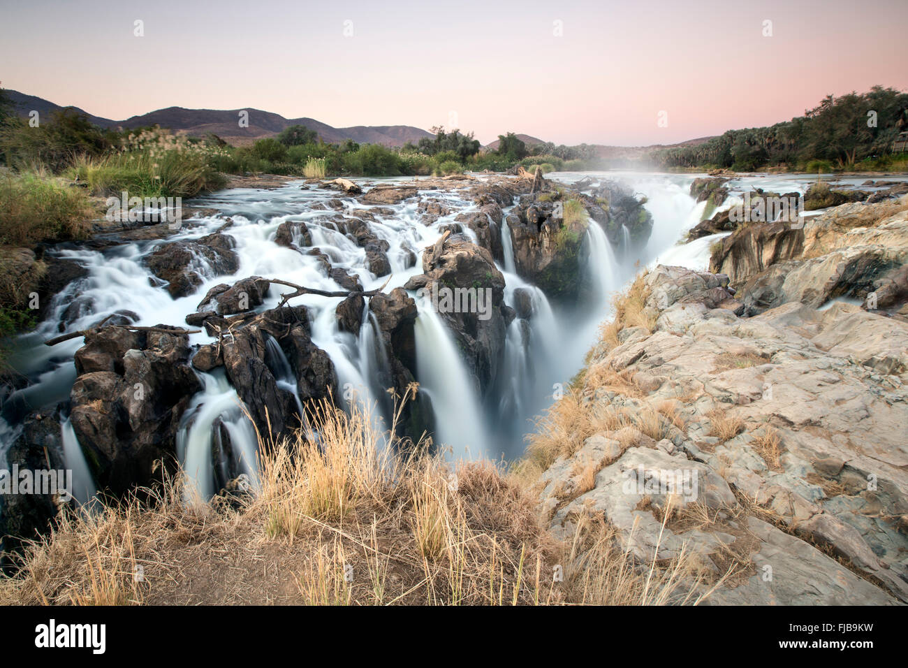 Epupa Wasserfälle, Namibia. Stockbild