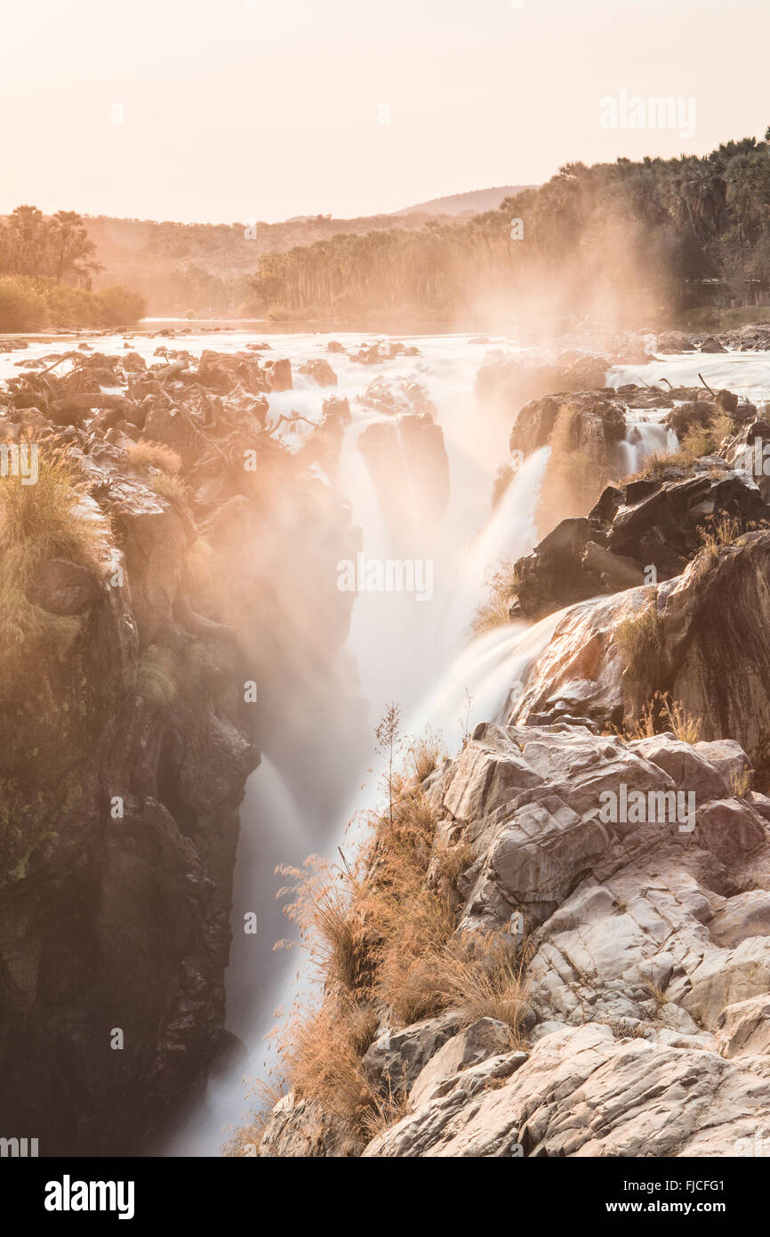 Epupa Wasserfall Stockbild