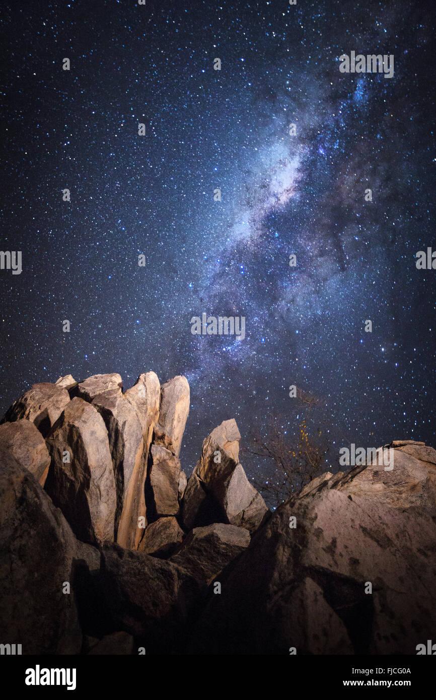 Nacht-Szene. Stockbild