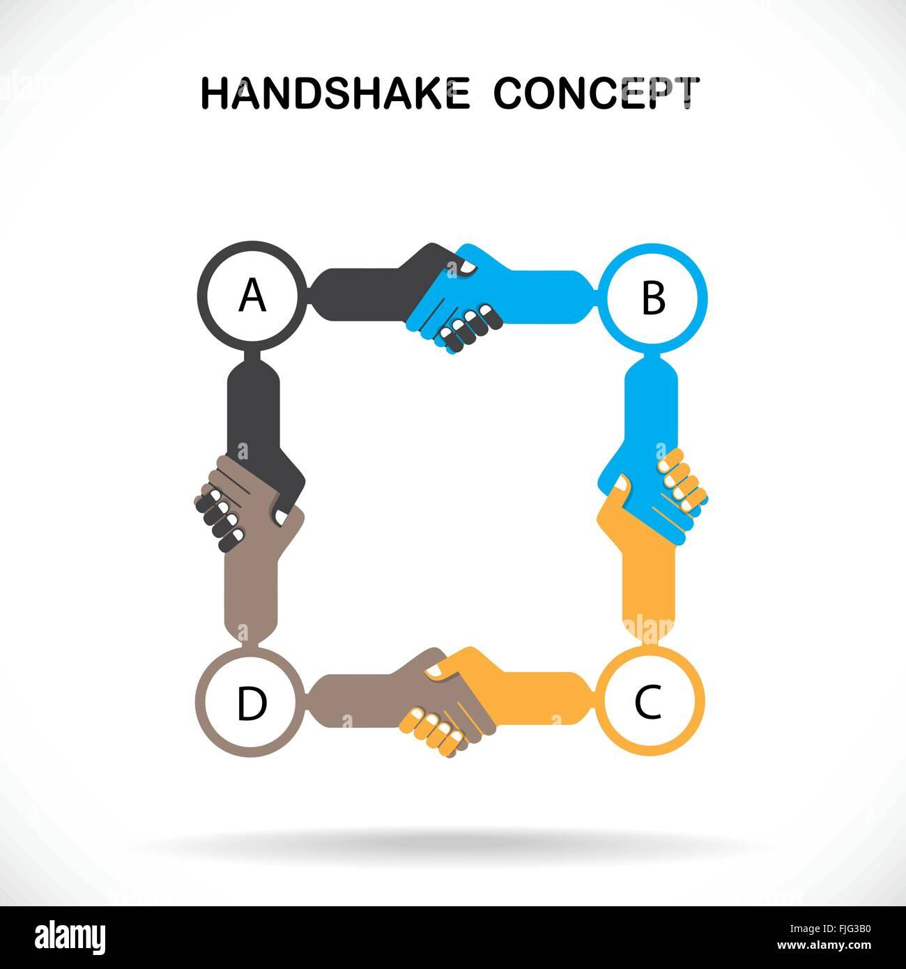 Geschäftspartnern Händeschütteln als Symbol der Einheit, Handshake ...