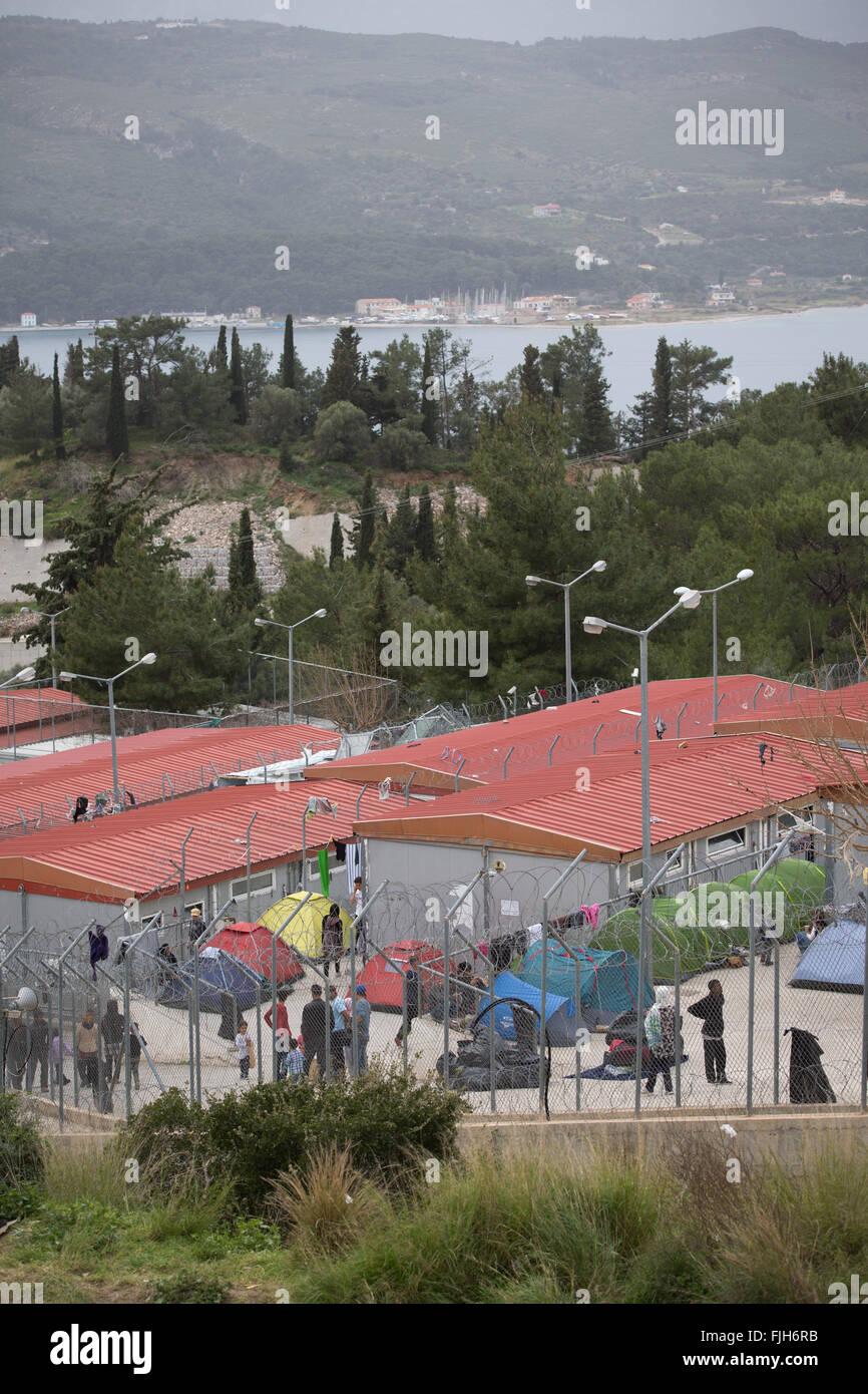 Samos, Griechenland. 2. März 2016. Flüchtlinge im Rahmen eines ...