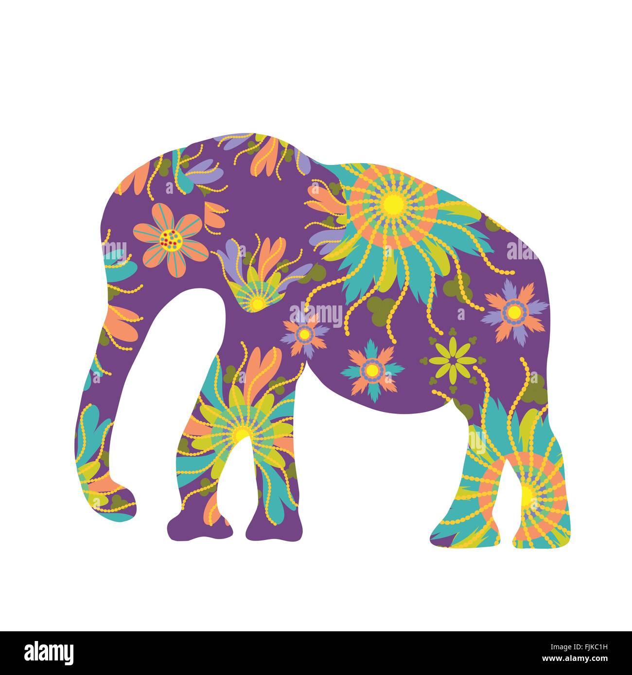 Elefant Vektor Silhouette Süße Vorlage Vektor Abbildung Bild