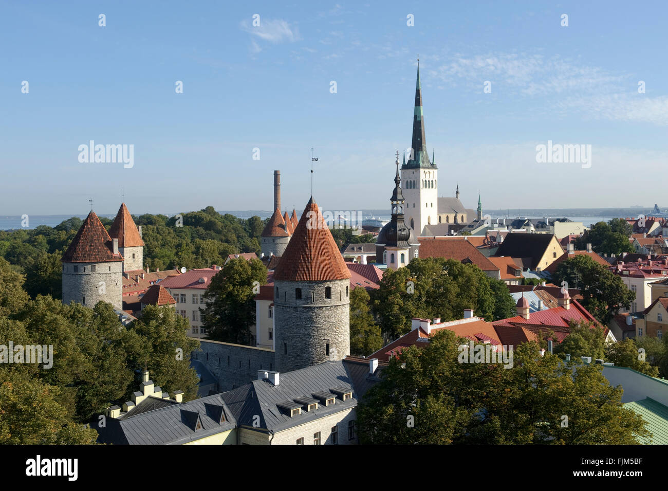 Geographie/Reisen, Estland, Tallinn, Stadtblick, Additional-Rights - Clearance-Info - Not-Available Stockbild