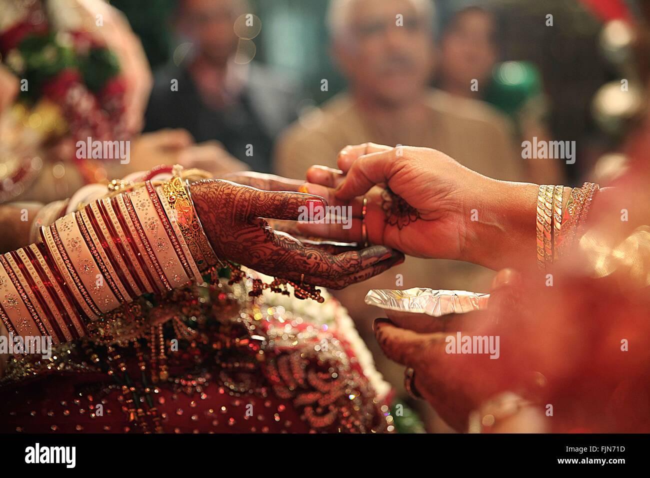 Indische Hochzeitszeremonie Stockfoto Bild 97582169 Alamy