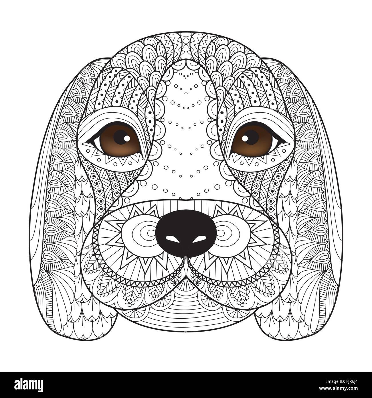 Zendoodle Kamel für t-shirt-Design, Design-Element und Erwachsenen ...