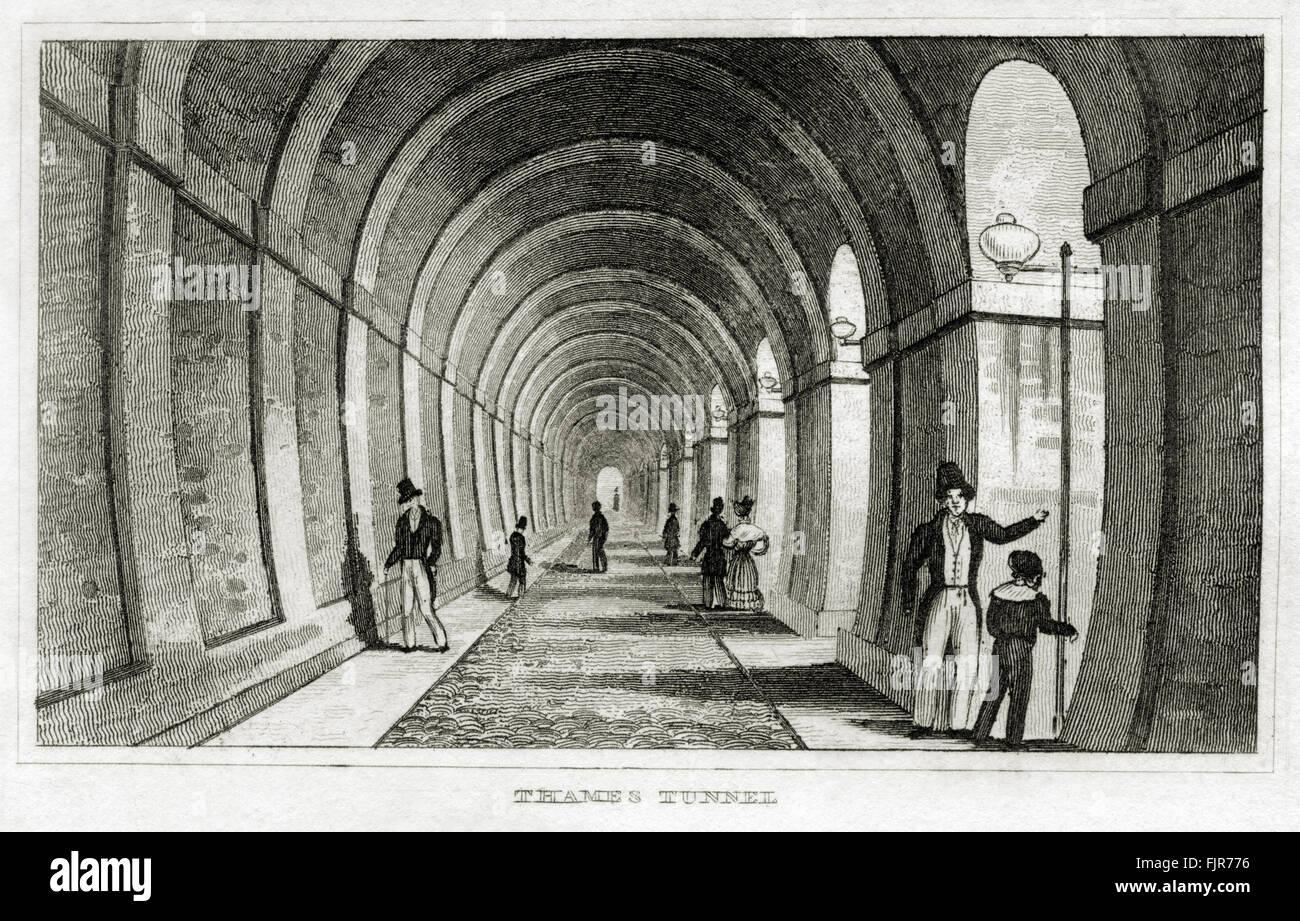 Thames Tunnel, im Jahre 1843 von Isambard Kingdom Brunel (1806 ? 1859) London abgeschlossen. Drucken Sie ab 1835, Stockbild