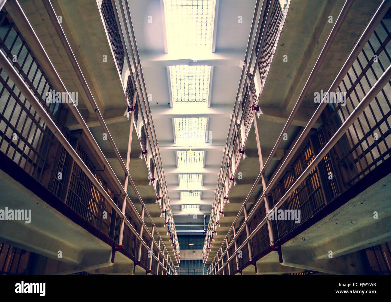 Gefängnis Alcatraz, San Fransisco Stockbild