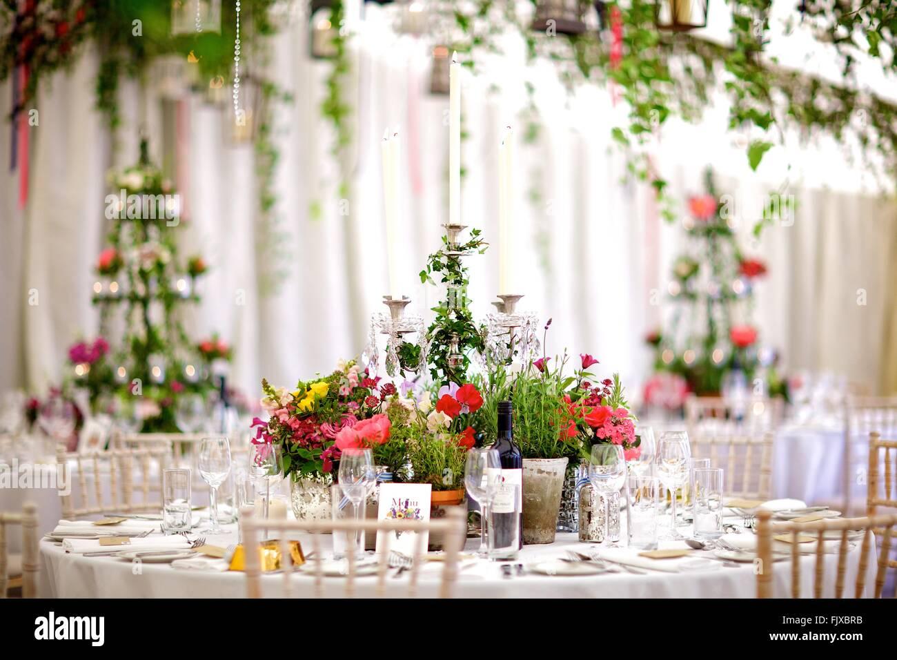 Hochzeit Event Oder Besonderen Anlass Tisch Dekoration Und Blumen