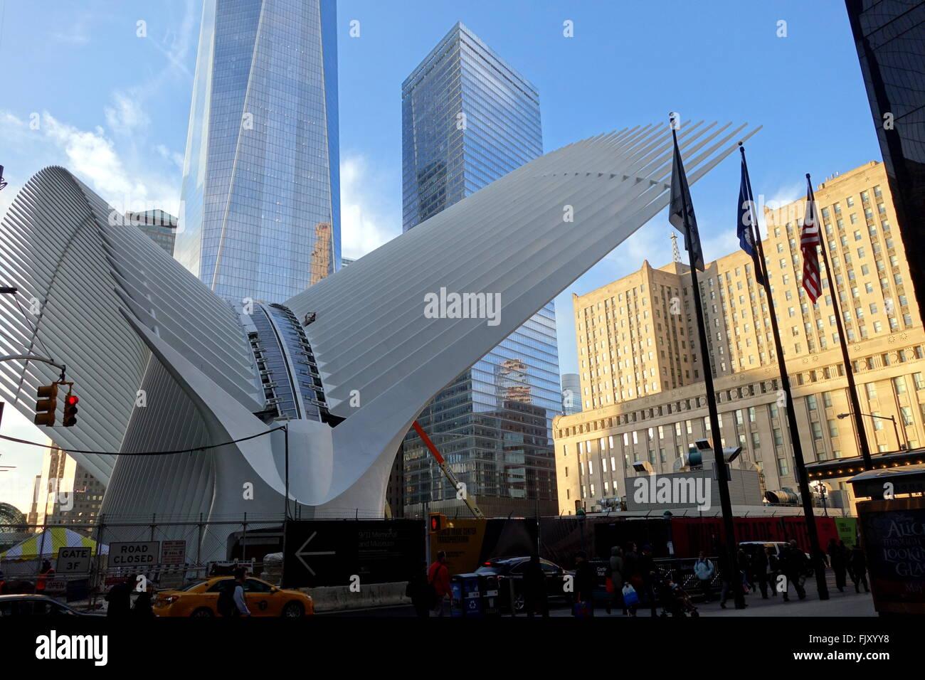 World Trade Center Oculus Und Freedom Tower In New York City Ny