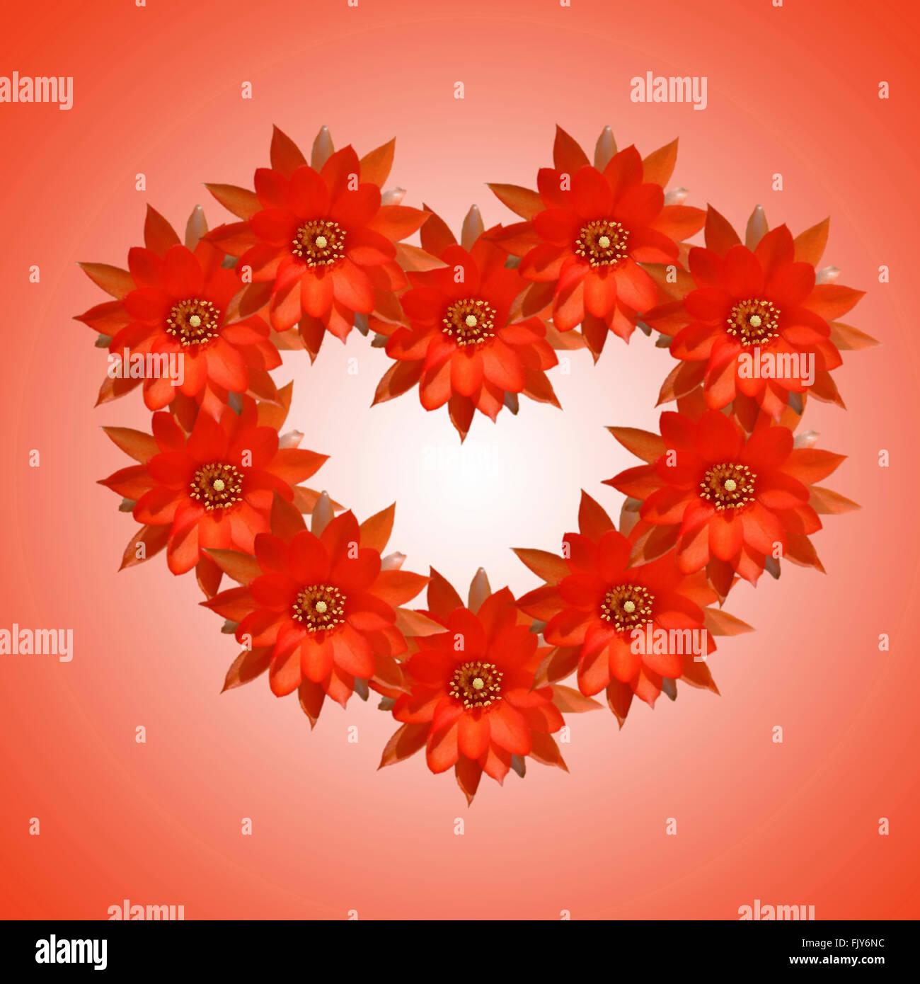 Blume-Hintergründe Karte zum Valentinstag Stockbild