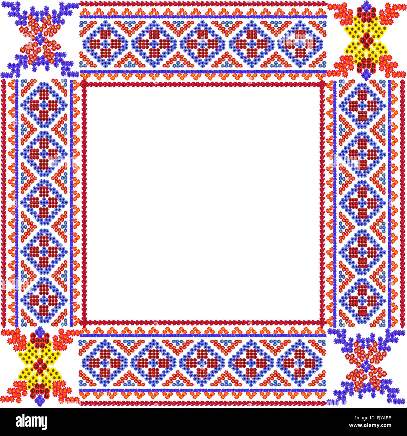 Mosaik Bilderrahmen im rustikalen Stil aus Sommerblumen hergestellt ...