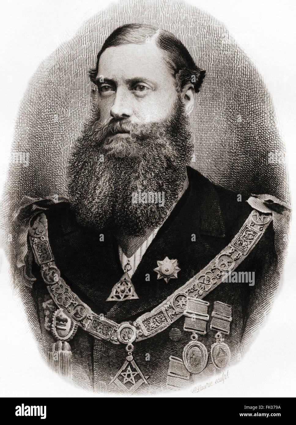 Edward Bootle-Wilbraham, 1. Earl of Lathom, 1837-1898, aka The Lord Skelmersdale zwischen 1853 und 1880.  Britischer Stockbild