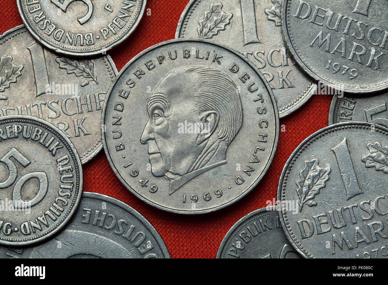 Adenauer Des 20 Jahrhunderts Stockfotos Adenauer Des 20