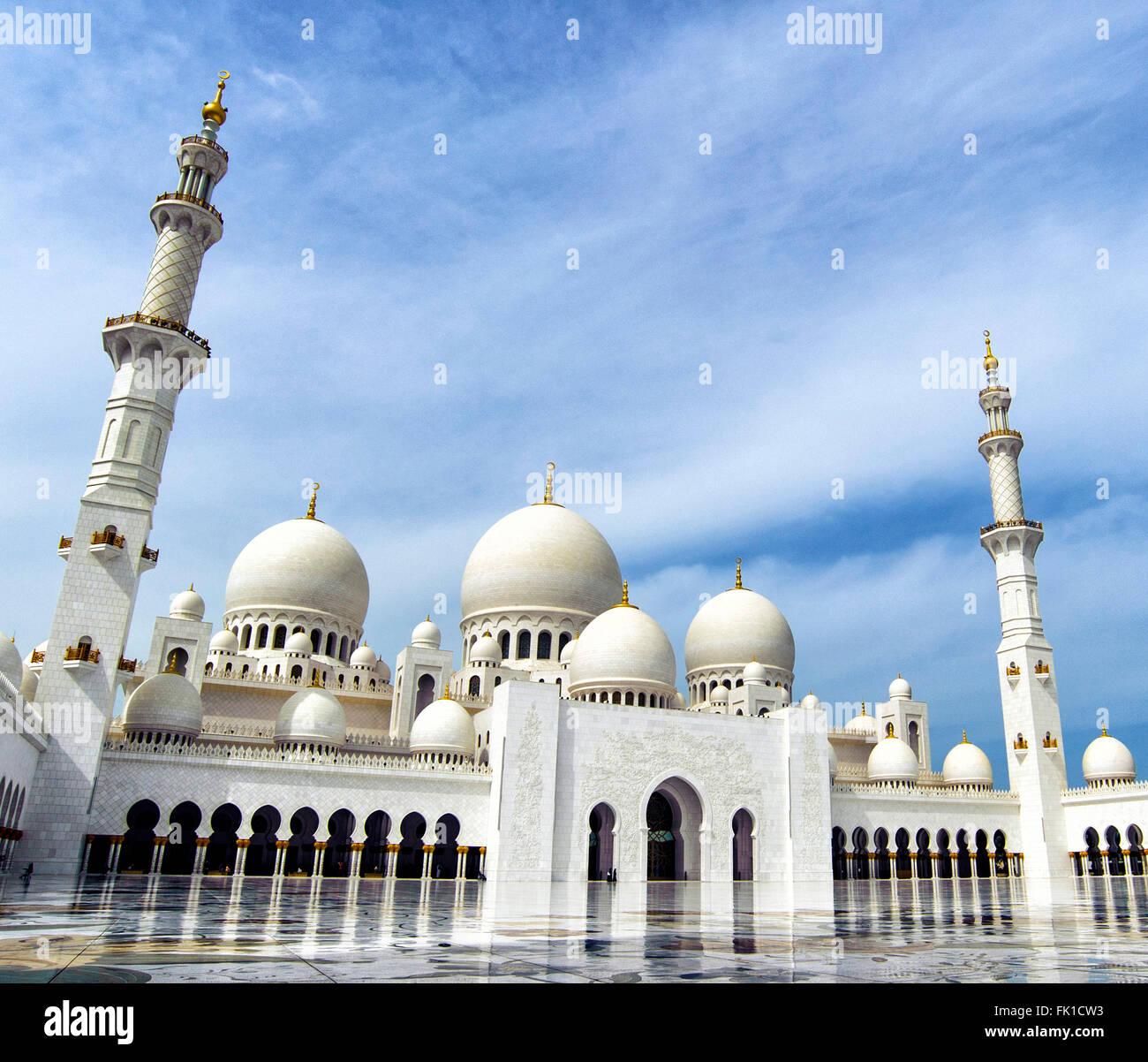 Sheikh Zayed Grand Moschee Abu Dhabi 29.02.2016 Vereinigte Arabische Emirate Foto Andrea Staccioli Insidefoto Stockfoto
