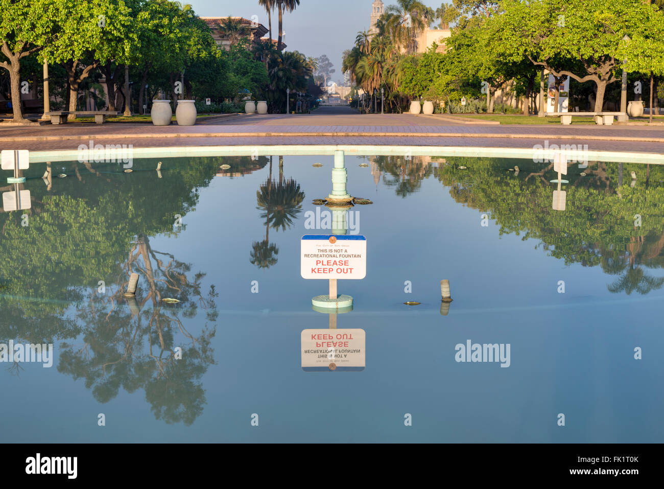 Bea Evenson Fountain. Balboa Park, San Diego, Kalifornien, USA. Stockbild