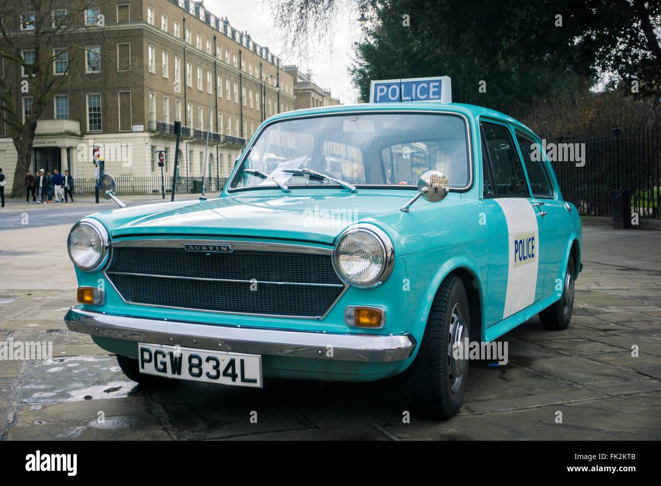 Ein Polizeiauto Panda Austin 1300 Stockbild