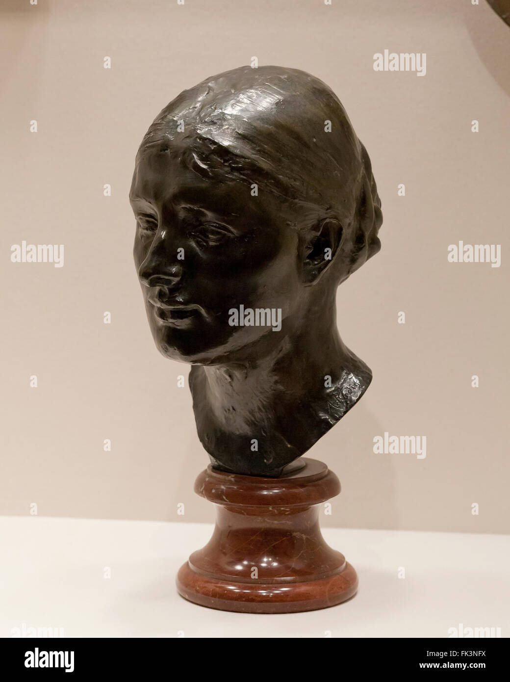 Kopf der Frau John Peter Russell (Marianna Mattiocco della Torre) von Auguste Rodin, ca. 1888 Stockbild