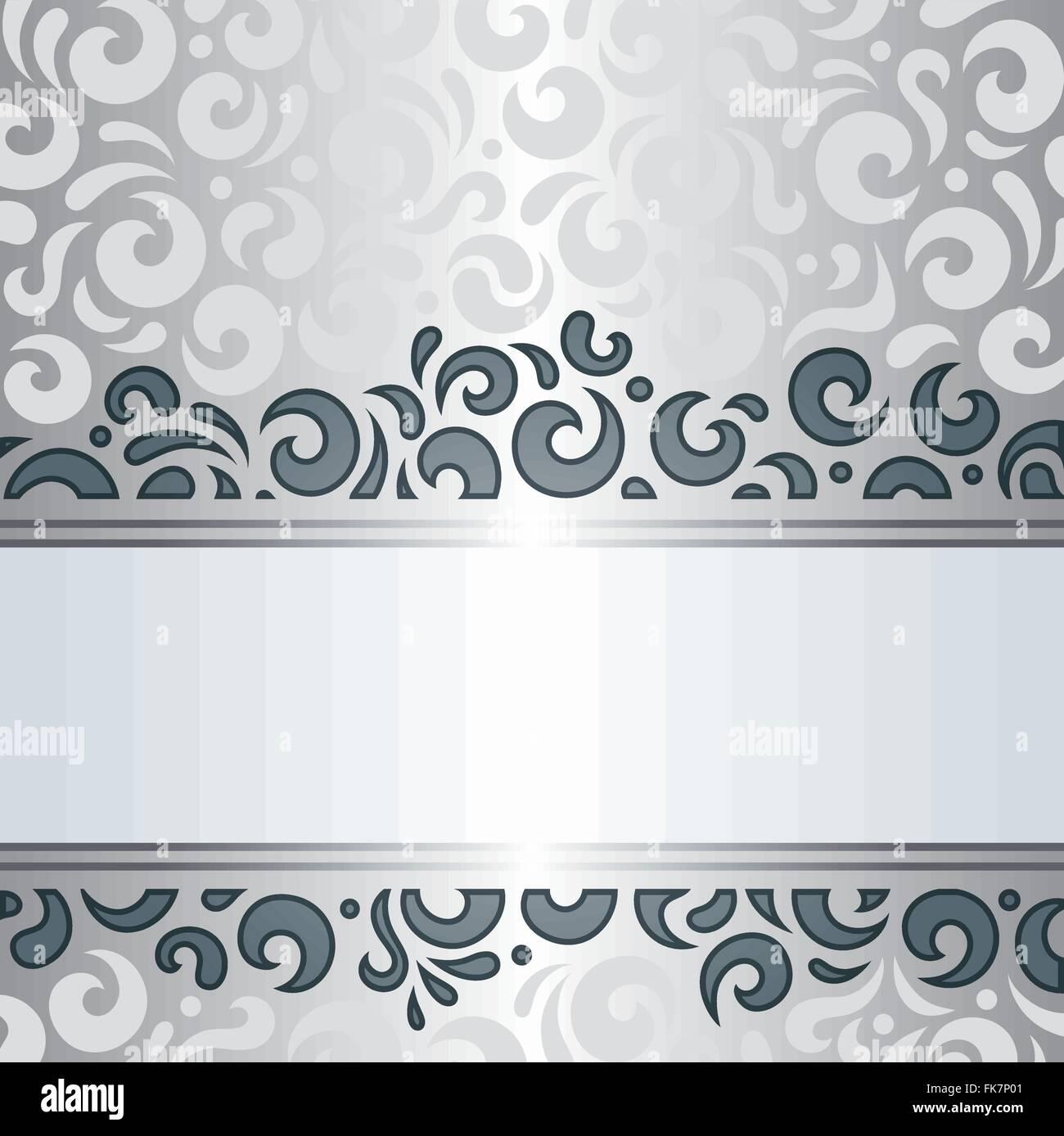 Silber Glanzende Oldtimer Dekorative Tapeten Muster Hintergrund