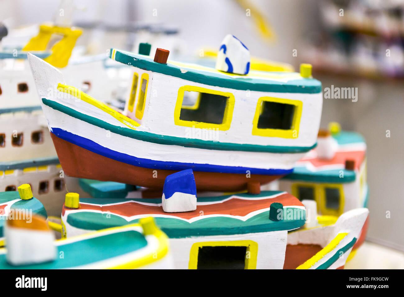 Spielzeug in Buriti - traditionell hergestellt durch die Küstenregion von Abaetetuba Stockbild