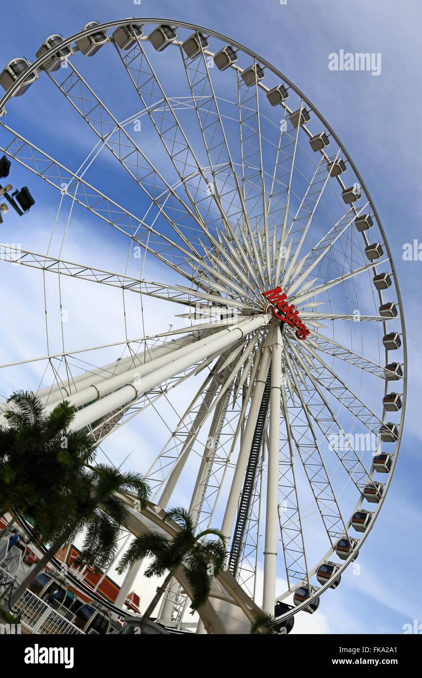 Riesenrad von Asiatique ist Wahrzeichen von bangkok Stockfoto