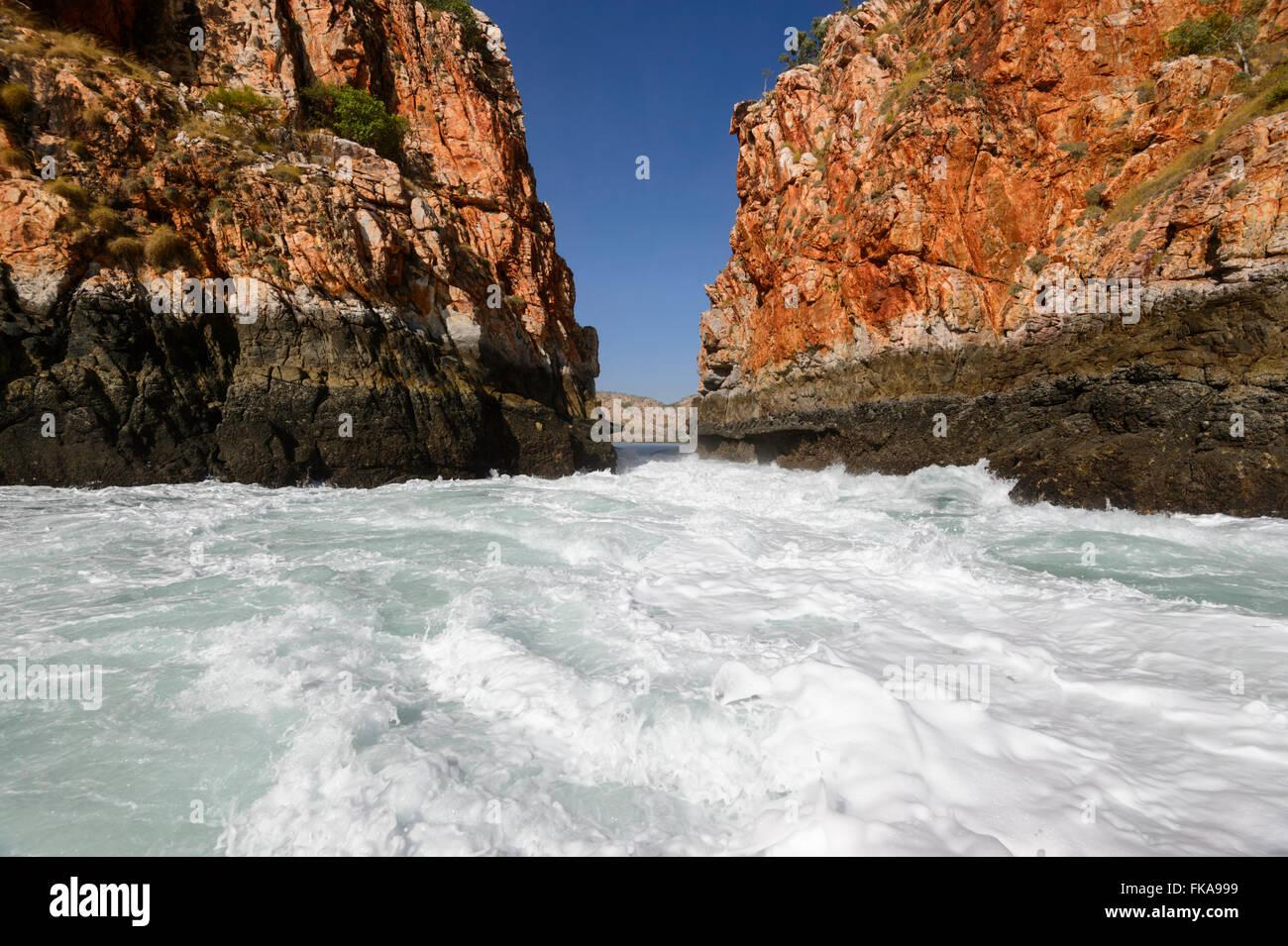 Horizontalen Wasserfälle, Kimberley-Region, Westaustralien Stockbild