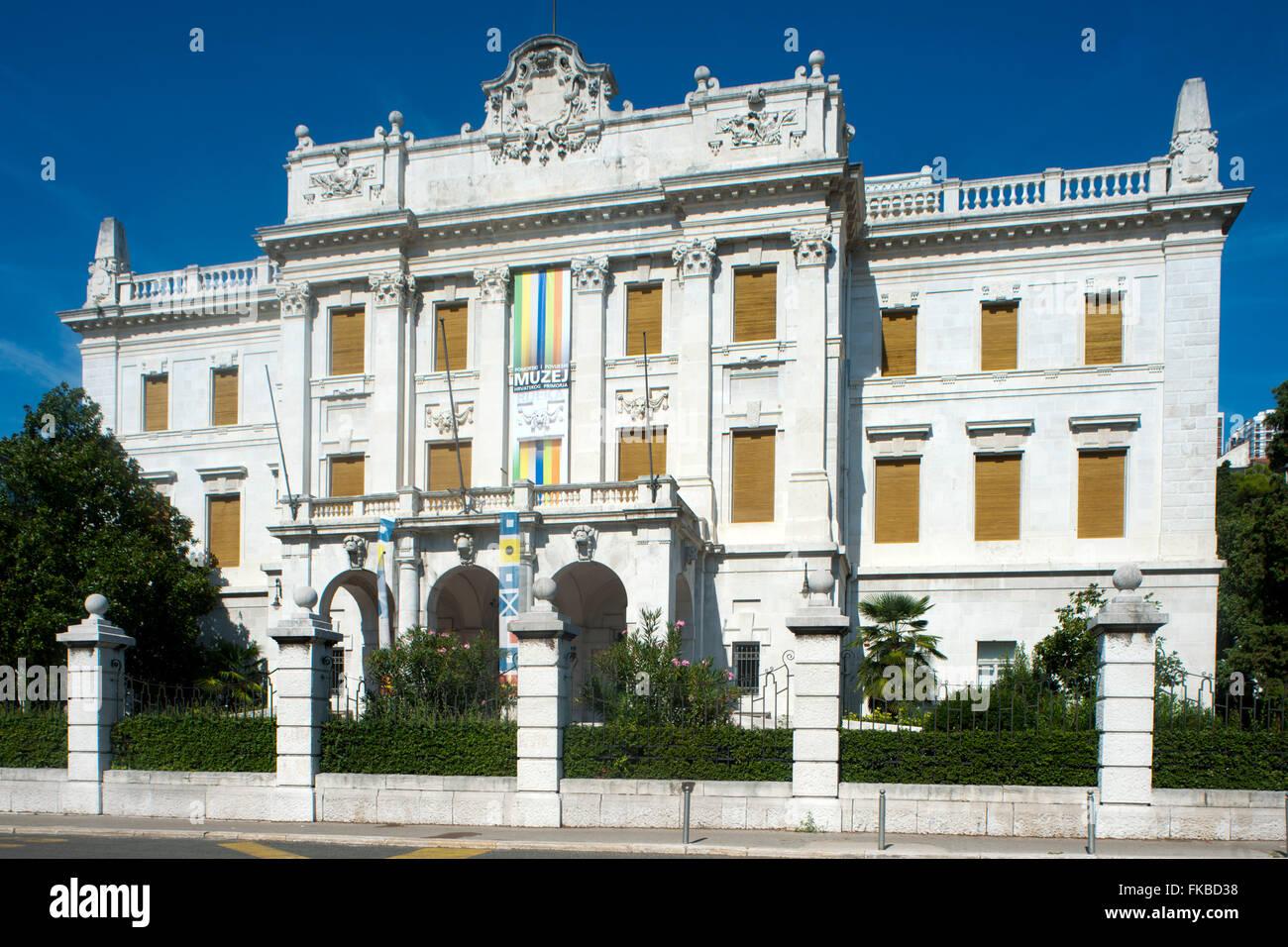 Fernsehreihe, Rijeka, Seefahrtsmuseum Und Historisches Museum Stockbild
