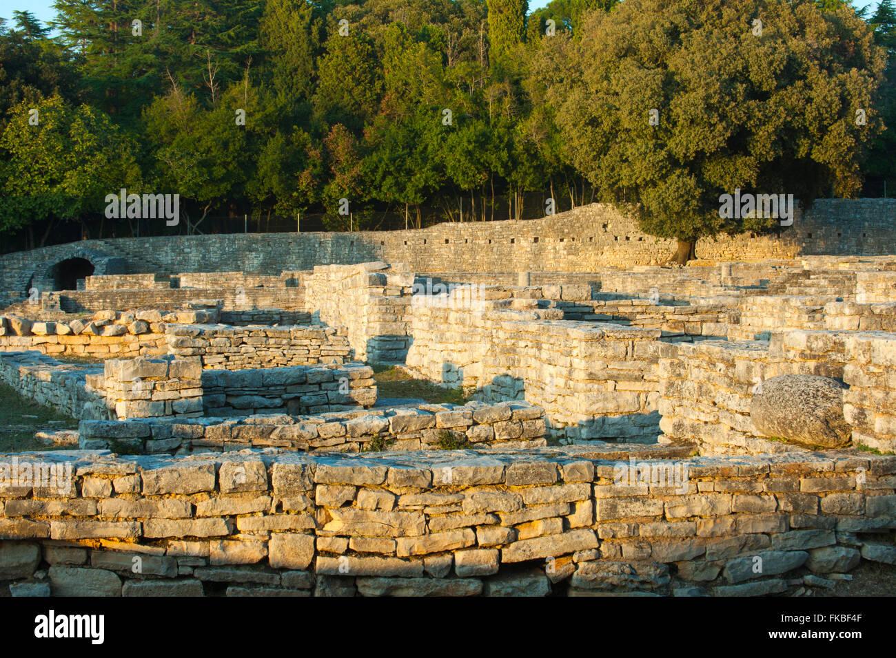Fernsehreihe, Istrien, Insel Veli Brijuni Im Nationalpark Brijuni-Inseln Vor Pula. Byzantinisches Kastell. Stockbild
