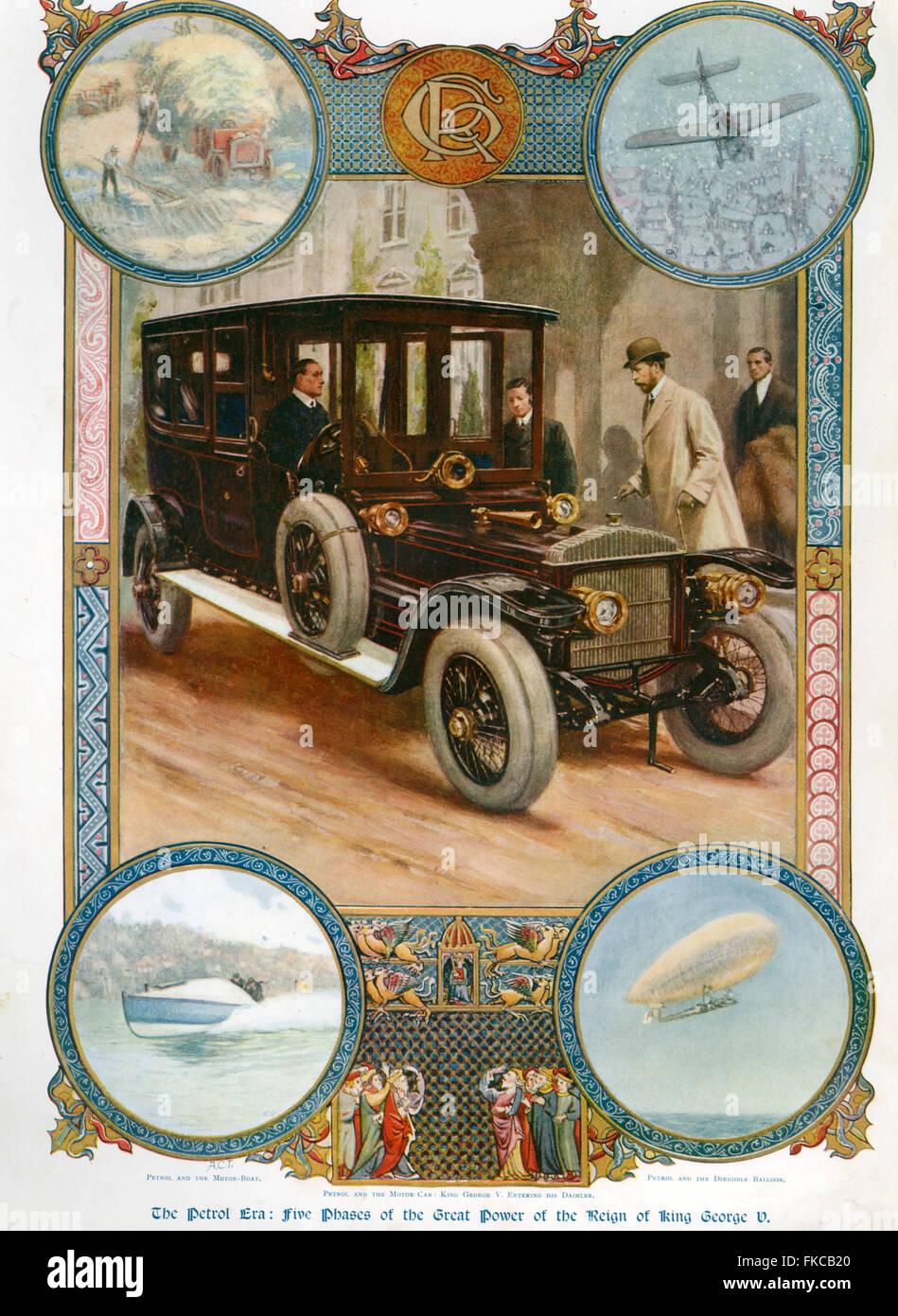 1920er Jahre UK Benzin und der Motor Auto-Magazin-Anzeige Stockbild