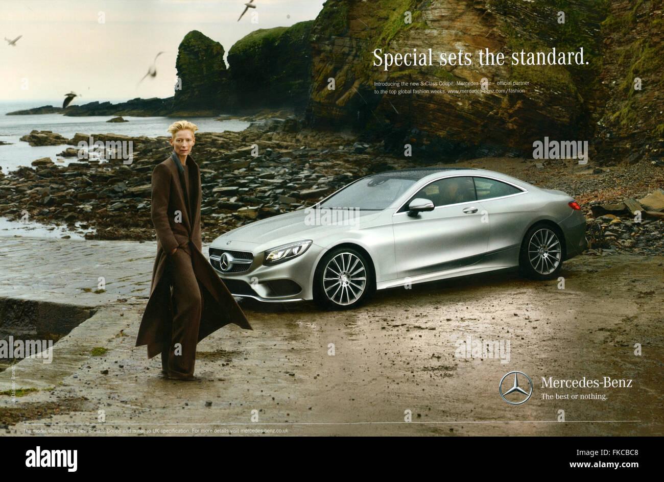 2010er jahre uk mercedes-benz magazin anzeige stockfoto, bild