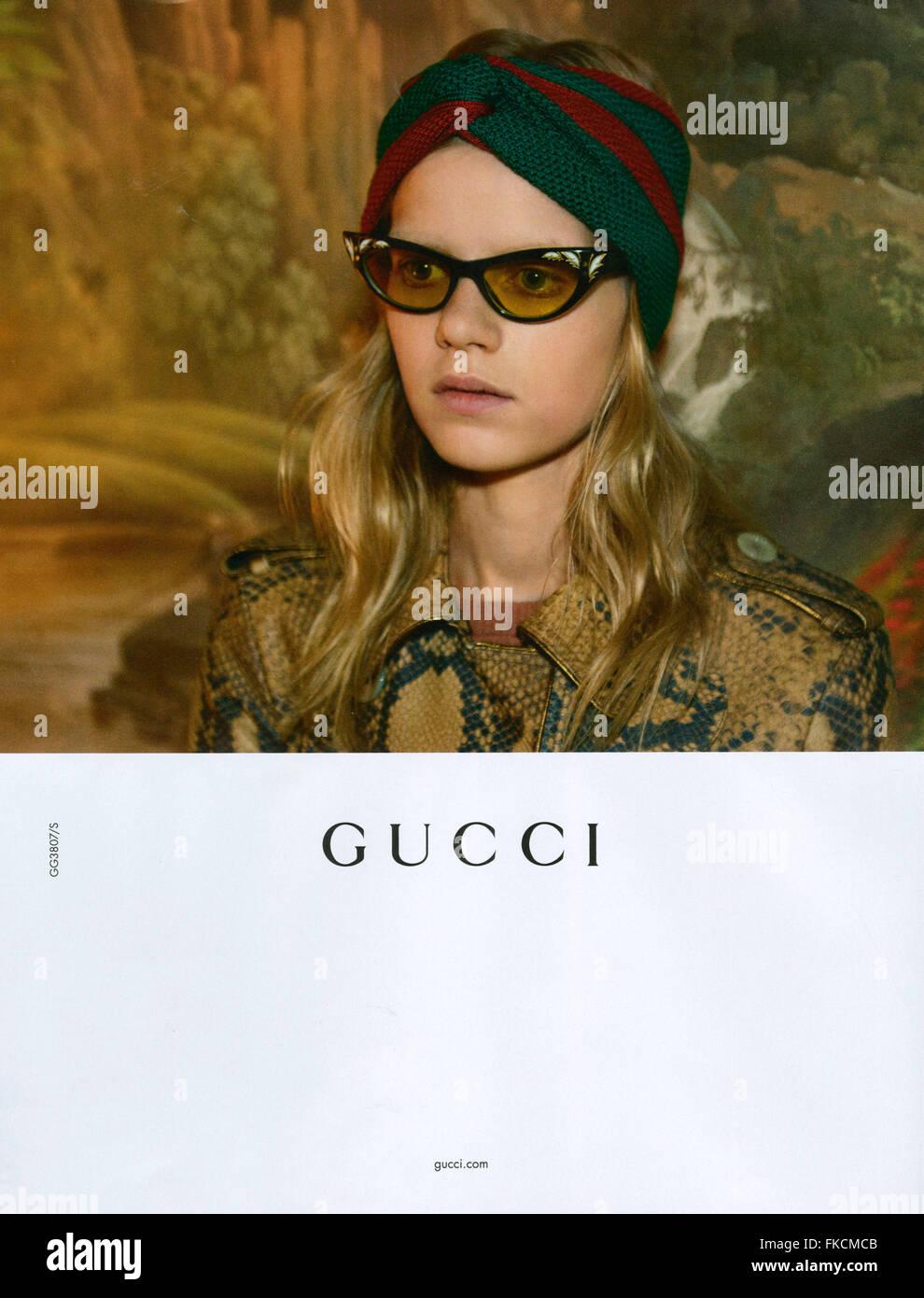 cf9a61c8c4cb 2010er Jahre UK Gucci Magazin Anzeige Stockfoto, Bild  98009755 - Alamy