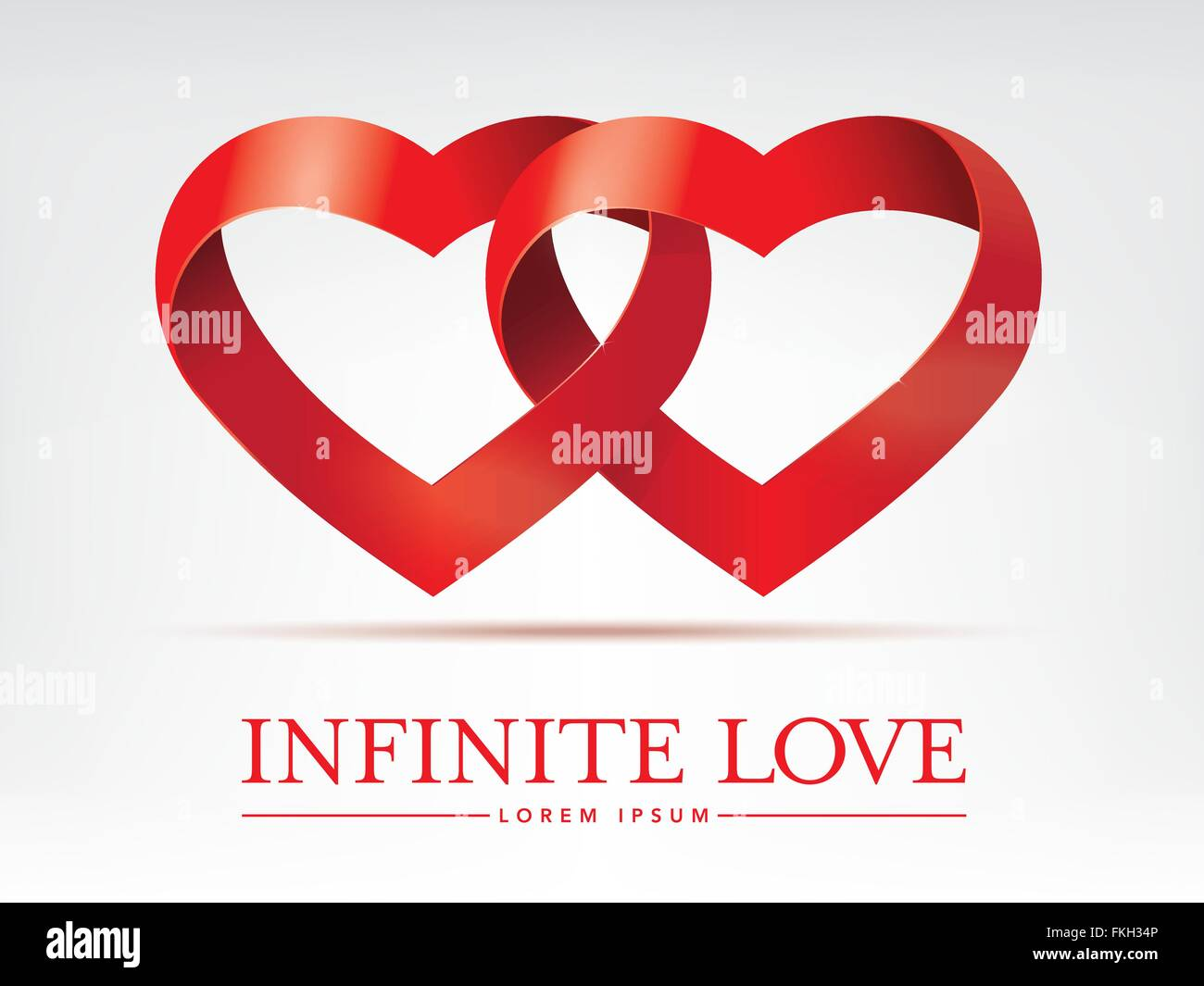 Unendliche Liebe Konzept Mit Zwei Ineinander Verschlungene Herzen