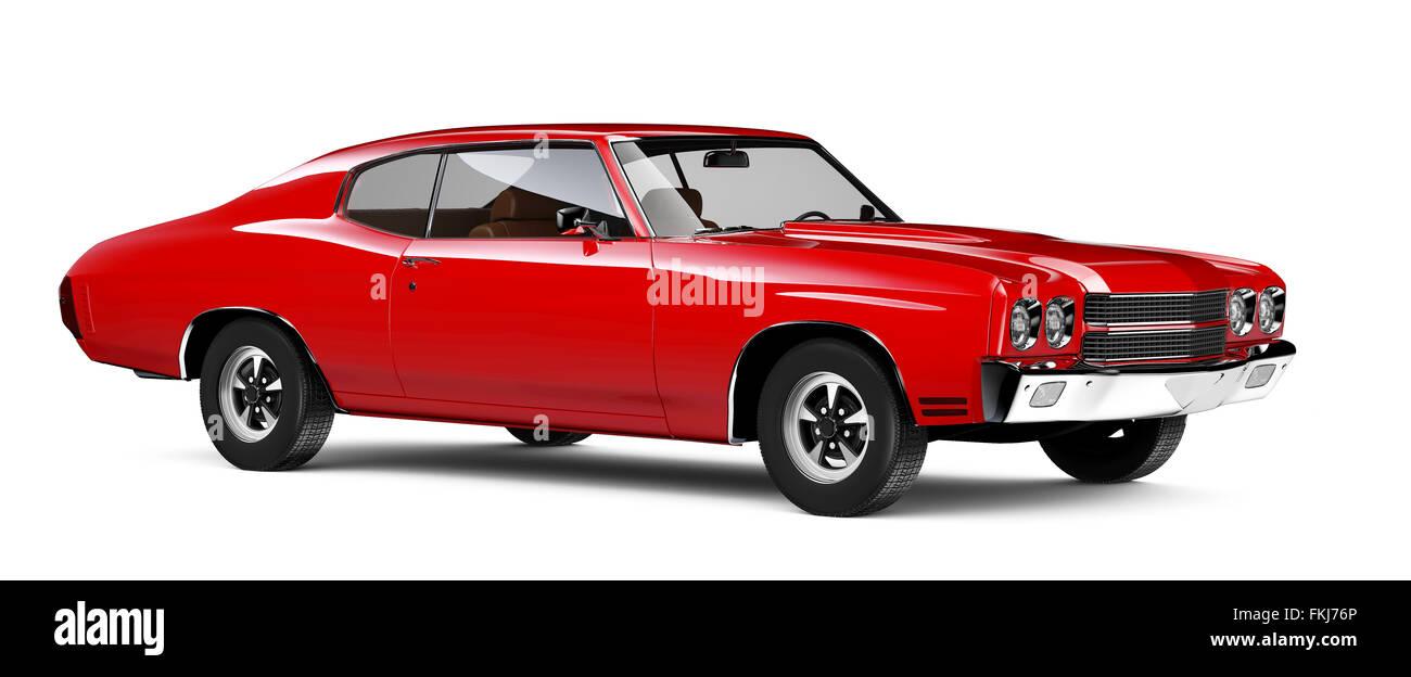 Roten Muscle-car Stockbild