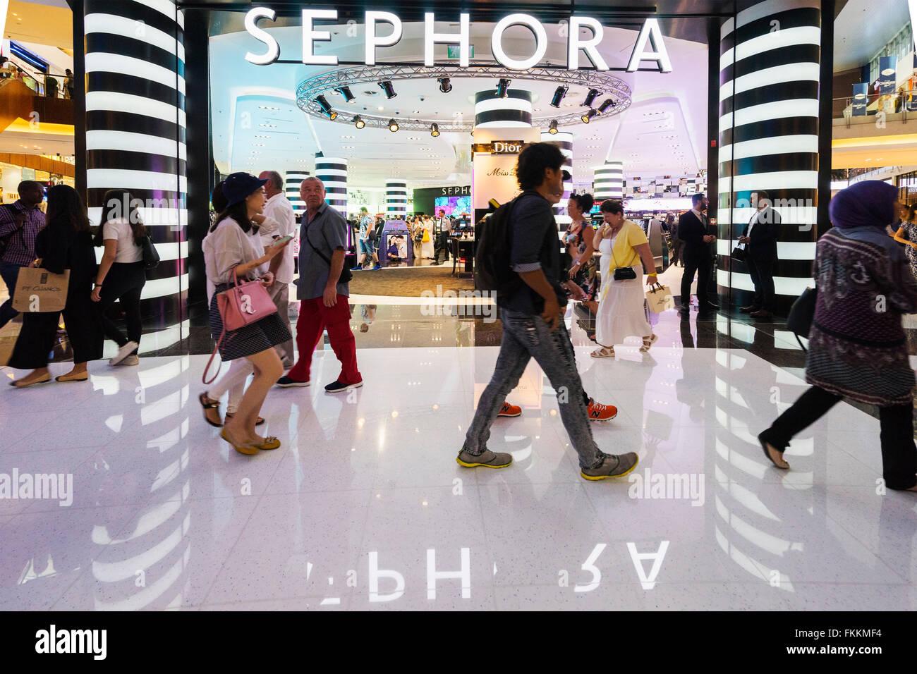 Sephora Kosmetik-Shop in Dubai Mall Dubai Vereinigte Arabische Emirate Stockbild