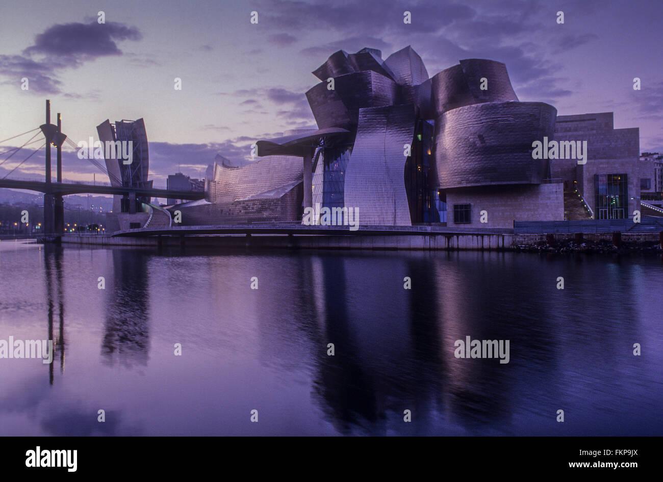 Guggenheim-Museum von Gehry. Bilbao. Vizcaya. Spanien Stockfoto