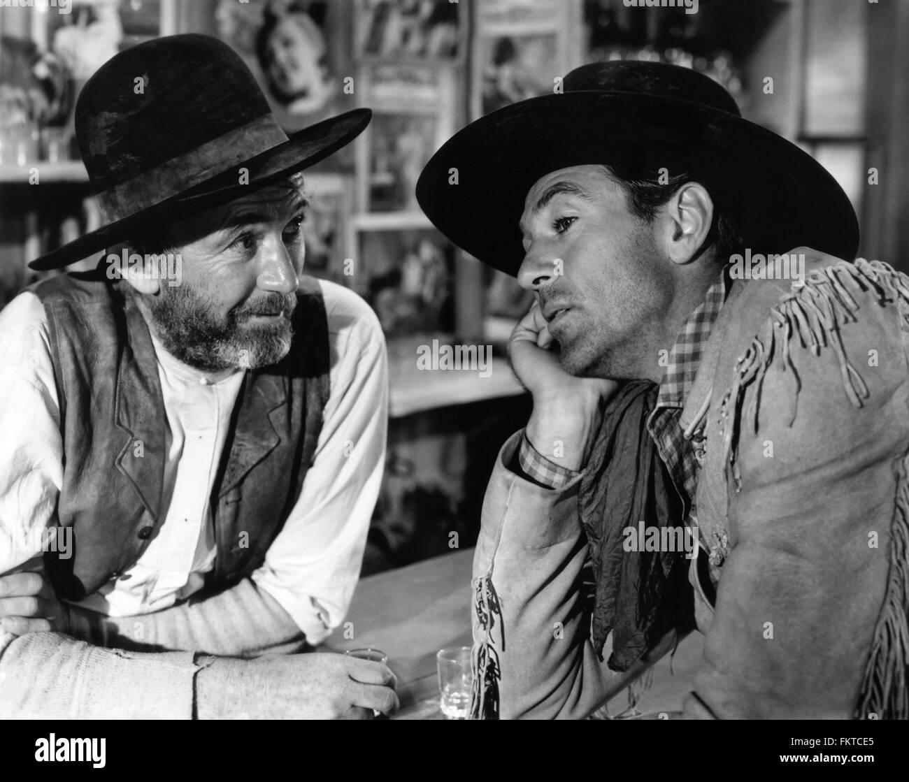 Porträt von Gary Cooper in Westler die Stockbild