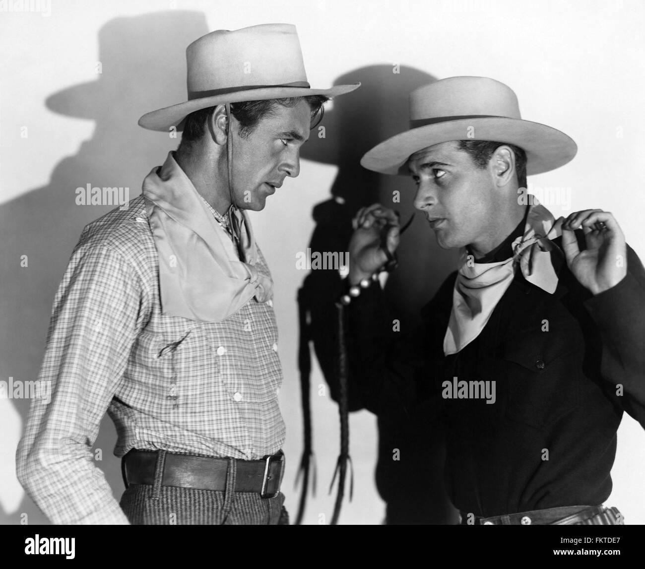 Porträt von Gary Cooper in Virginian der Stockbild