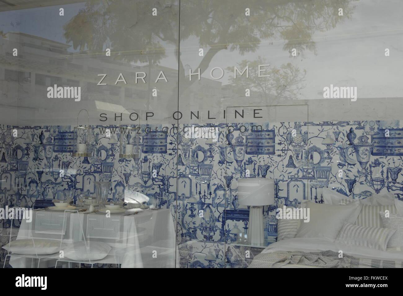 Zara Home Store Fenster In Puerto Banus Malaga Spanien Stockfoto