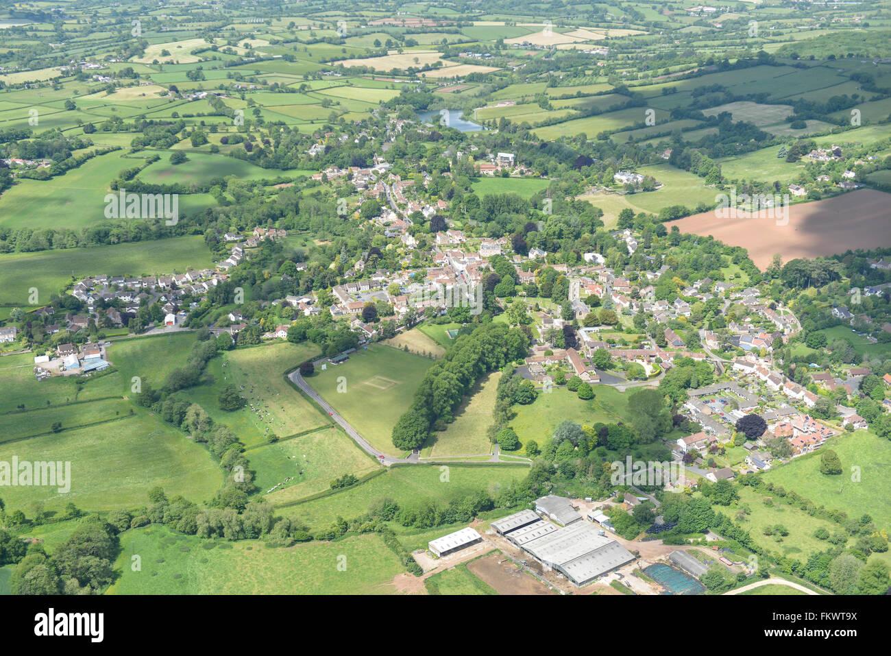 Eine Luftaufnahme von Somerset Dorf von Chew Magna Stockbild