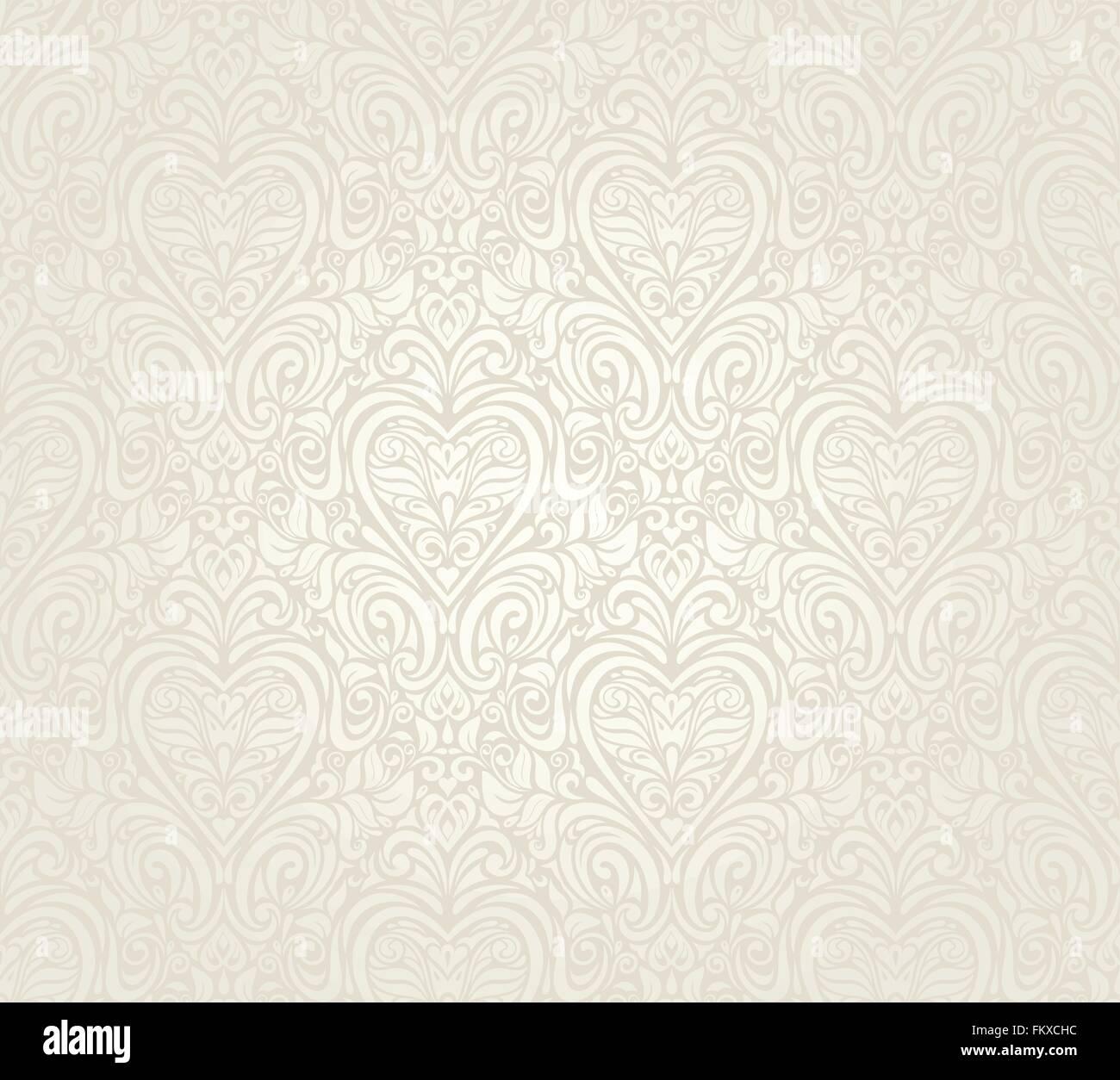 hochzeit helle luxus vintage floral seamless wallpaper hintergrund vektor abbildung bild. Black Bedroom Furniture Sets. Home Design Ideas