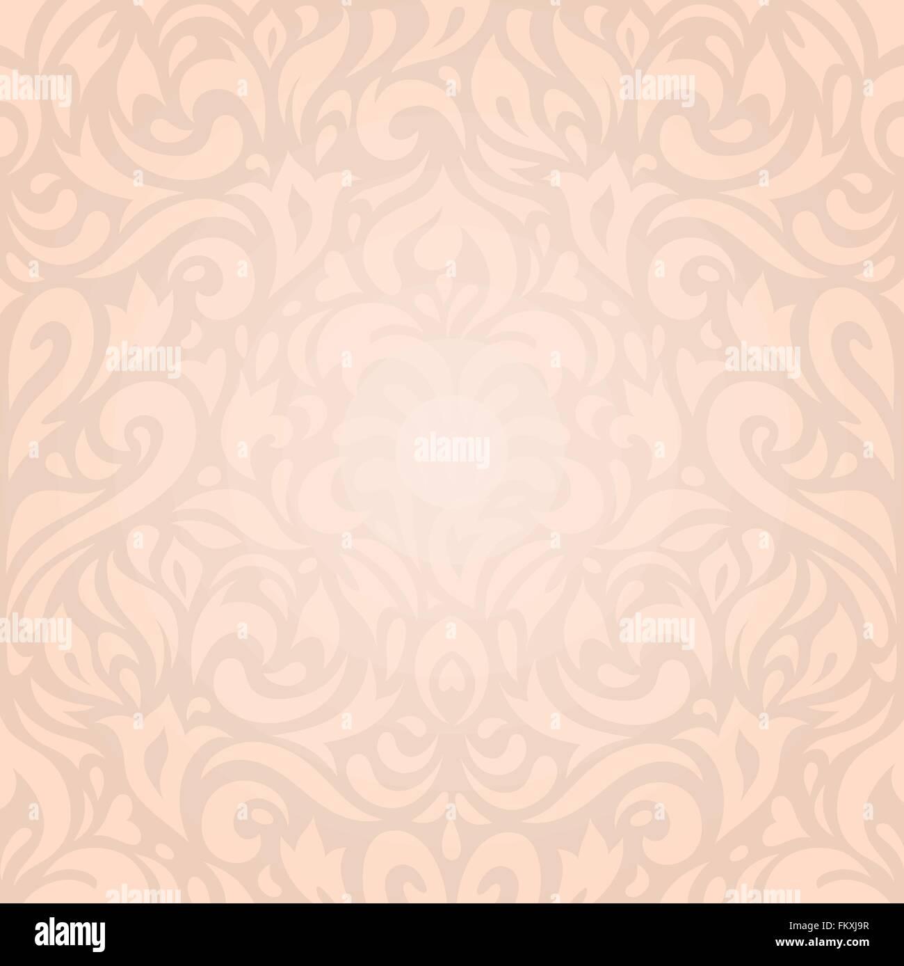Retro Hochzeit Blumen Ecru Beige Urlaub Vintage Einladung Hintergrund  Wallpaper Design