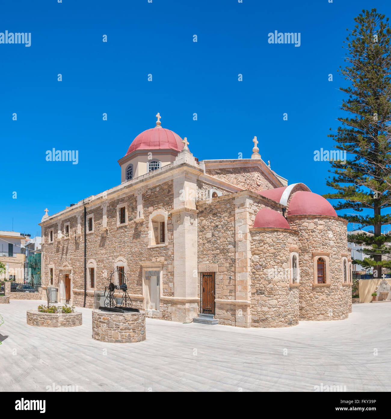 church crete christian religion stockfotos church crete. Black Bedroom Furniture Sets. Home Design Ideas