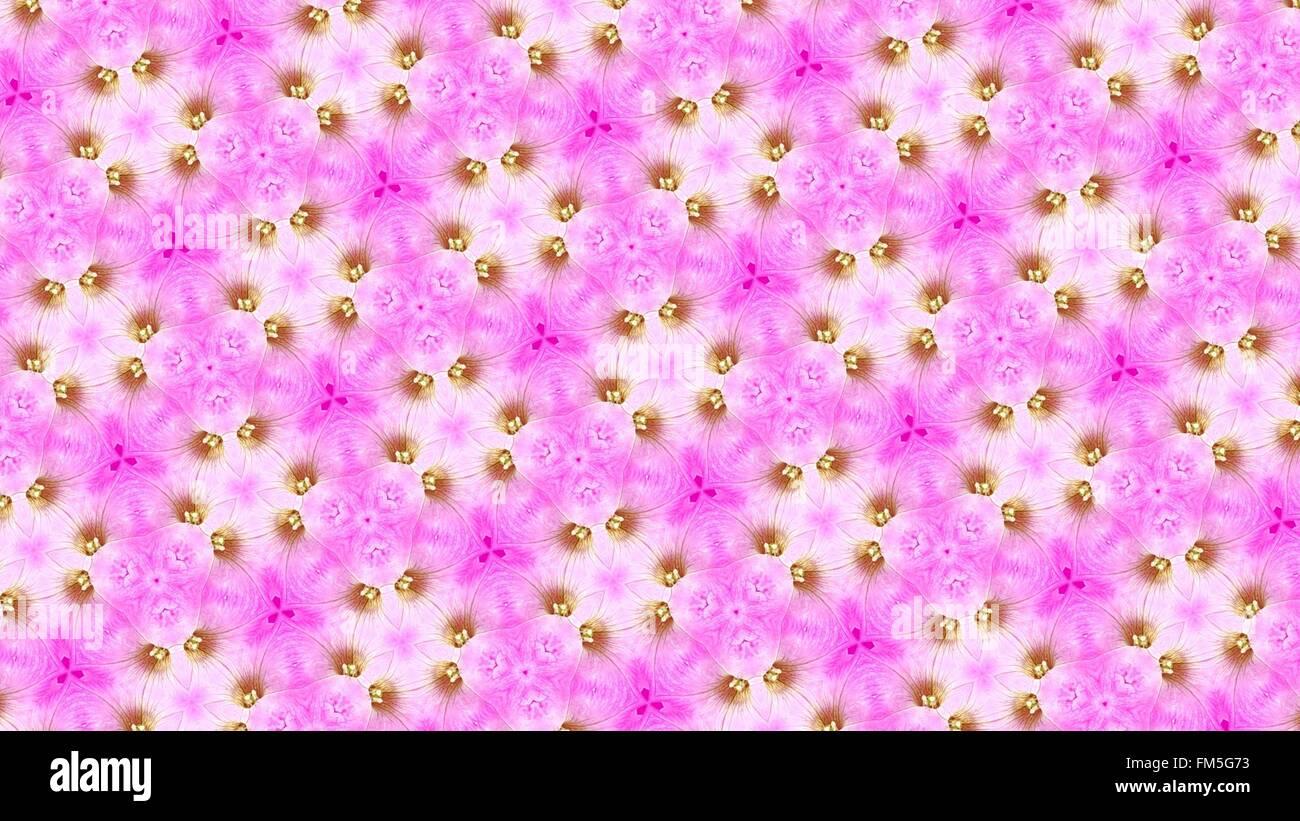 Rosa gelb abstrakte Blumenmuster Stockbild