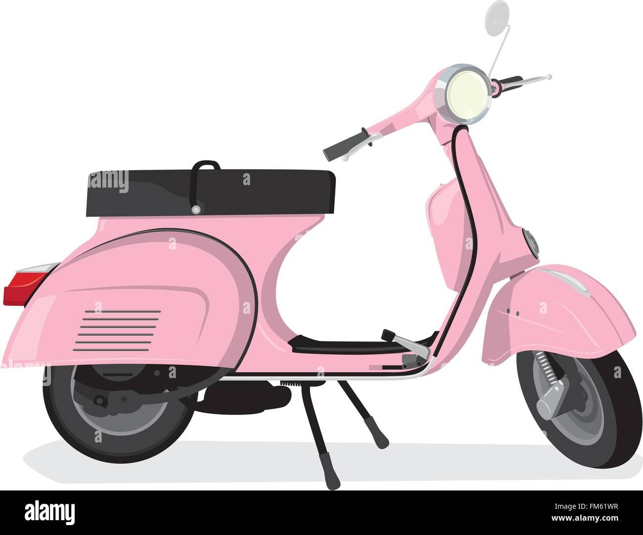 Vintage Rosa Motorroller Stockbild