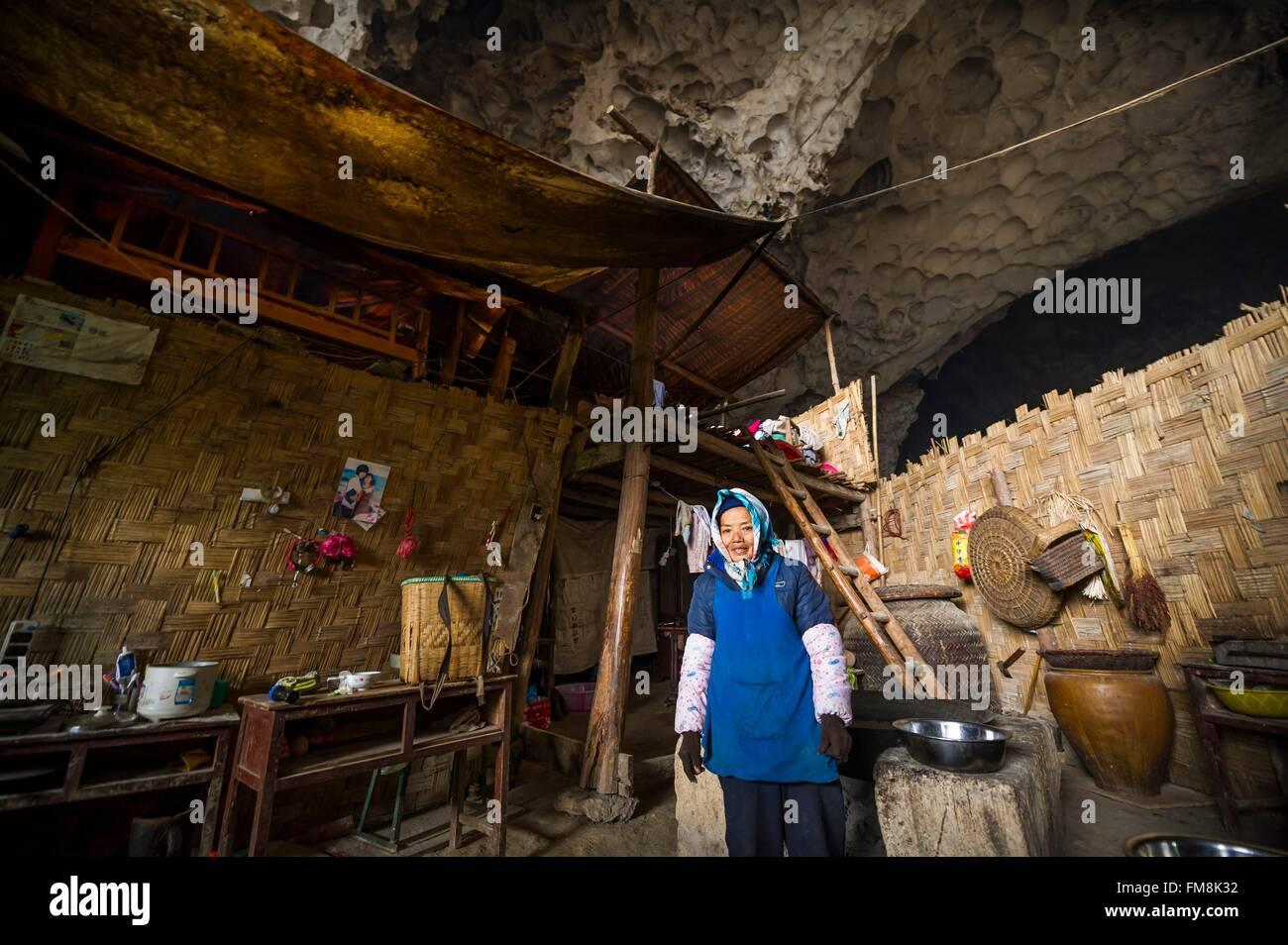 China, Guizhou, Ziyun, Getu Nationalpark, Dorf von der Höhle Miaos ...