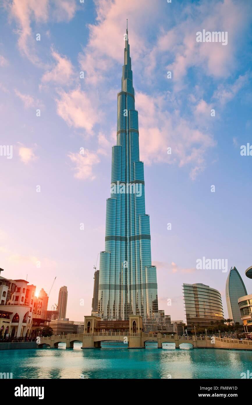 Vereinigte Arabische Emirate, Dubai, Burj Khalifa Stockbild