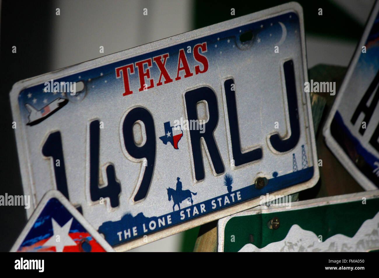 Us License Plate Stockfotos & Us License Plate Bilder - Alamy