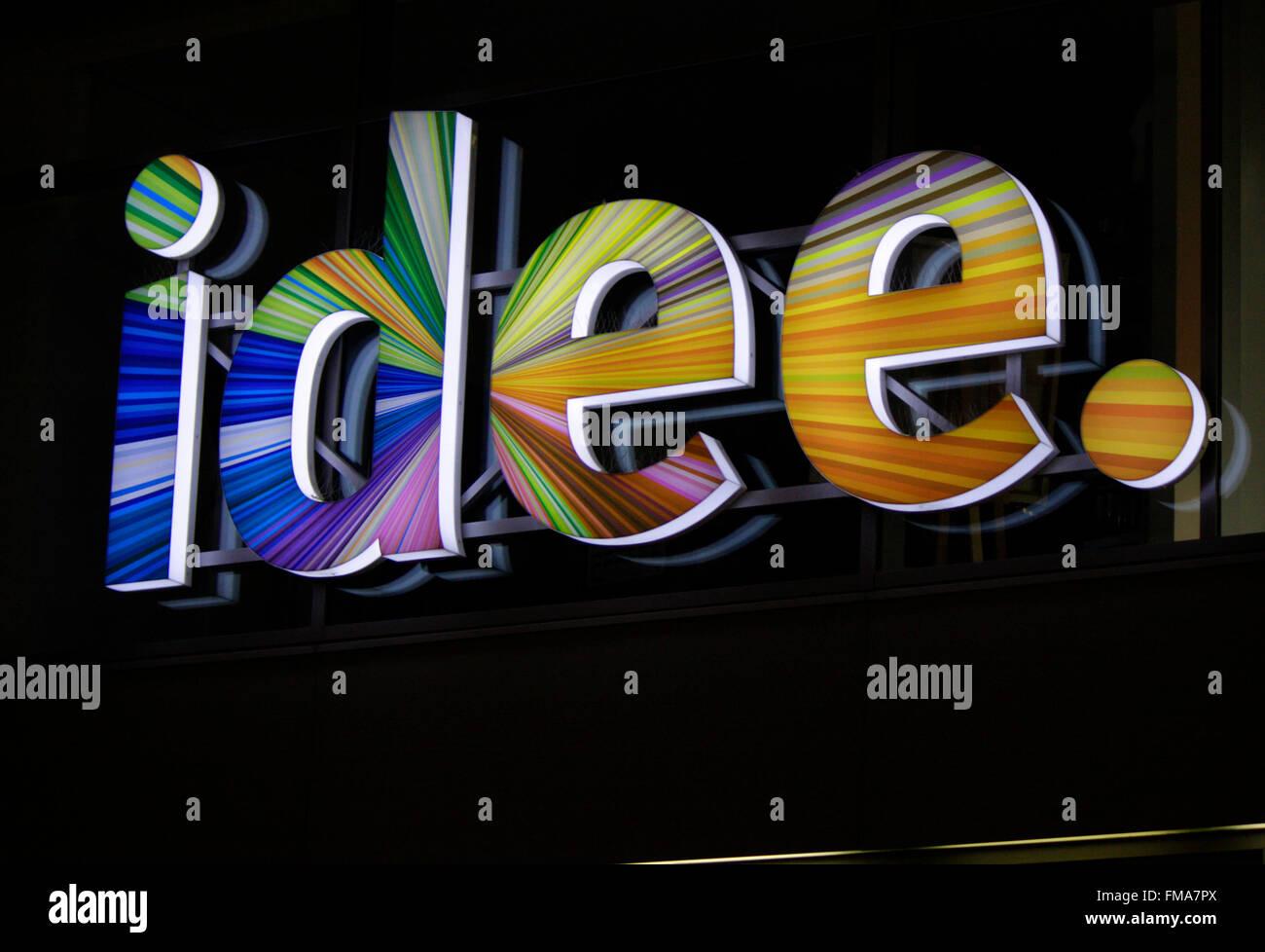 "Markenname: ""Idee"", Dezember 2013, Berlin. Stockbild"
