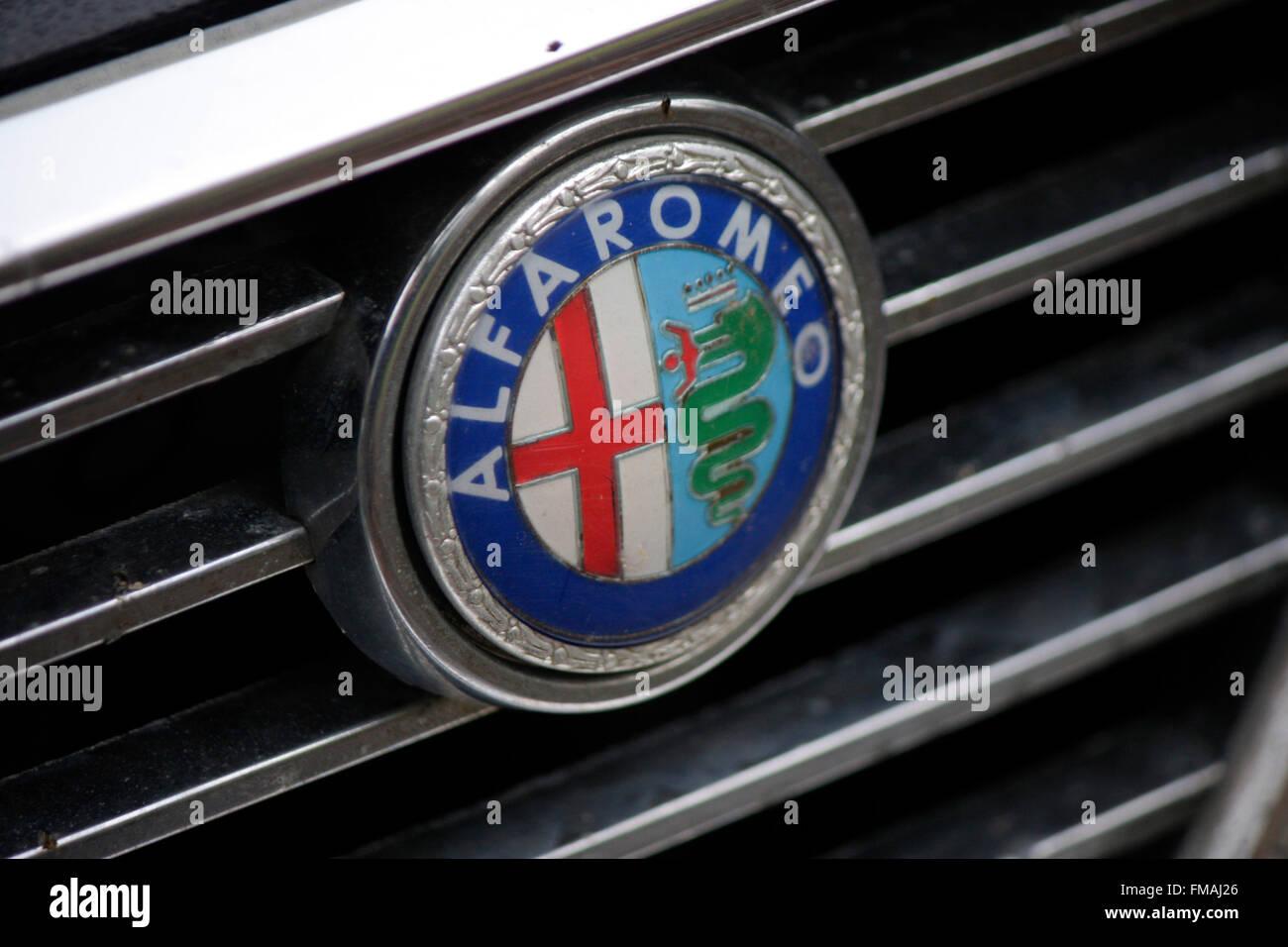 """Markenname: """"Alfa Romeo"""", Dezember 2013, Berlin. Stockbild"""