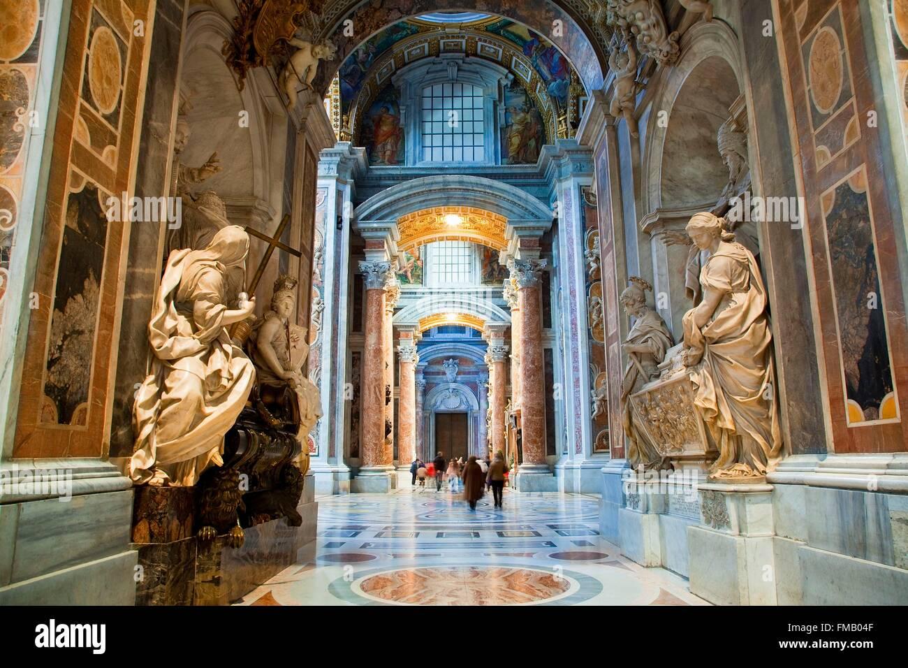 Italien, Latium, Rom, Altstadt Weltkulturerbe von der UNESCO zum Weltkulturerbe der UNESCO, Vatikanstadt die Stockbild
