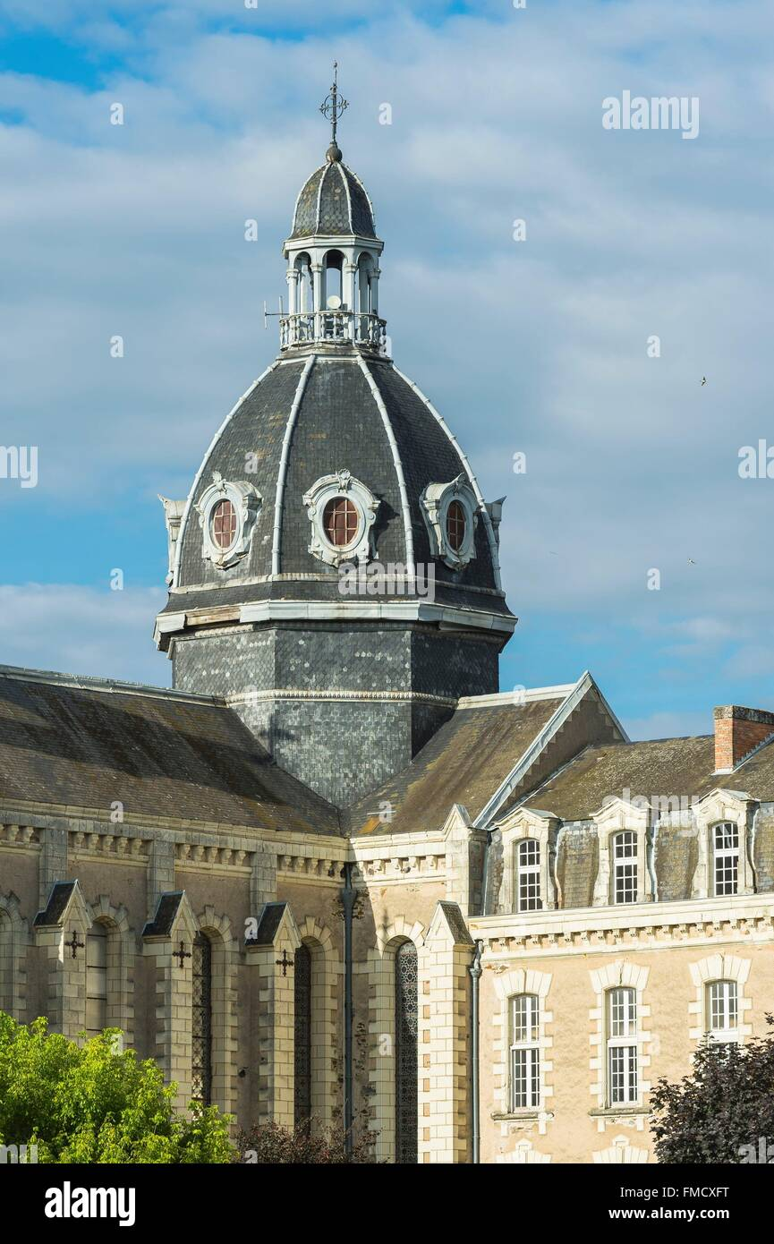 Mayenne, Frankreich Chateau Gontier, Krankenhaus Stockbild